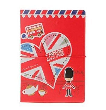 A-goo élégante et Creative Voyage 3dimitation Cuir Passport des Ensembles de différents types à l'étranger Cœur rouge cœur rouge 1