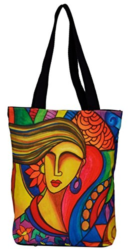 All Things Sundar Women's Tote Bag(Multicolor,150 - 04)