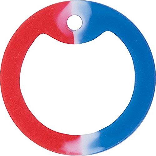 5 x Farbigen Gummi-Schalldämpfer für Militärische Erkennungsmarken (Rot Weiß und Blau)
