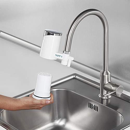 Tapp 1 – Wasserfilter Für Den Wasserhahn Von Tapp Water (Reduziert Chlorgehalt, Kalk, Schwermetalle), Weiß, Chrome, 1500 Liter - 6