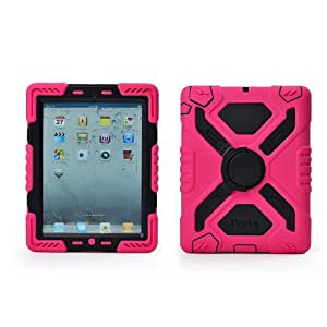 iPad Mini Case, iPad Mini 2/3 Case, Aken® Brand,(Not apply ipad mini 4) Full Body Rugged Hybrid Protective PU Leather Smart Case Magnetic Cover with Sleep / Wake feature for iPad Mini 1/2/3 (Pink/Black)