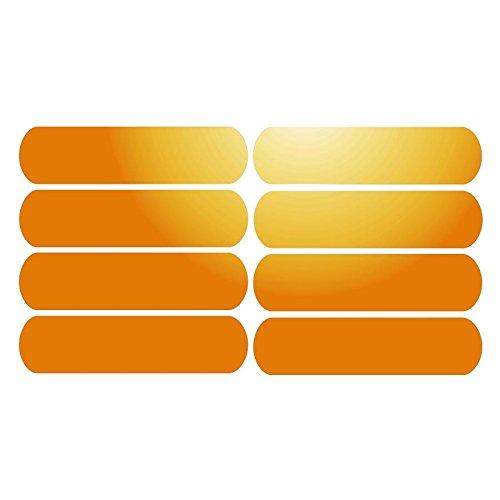 8Bandas adhesivas reflectantes señalización casco