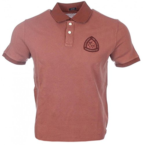abercrombie-fitch-herren-kurzarm-polo-maroon-rot-muscle-xl