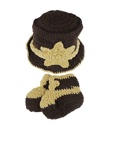 Neugeborene Baby Mädchen Jungen Knit Animal Fotografie Studio Requisiten Kostüme Cowboy Cowgirl Hat Beute
