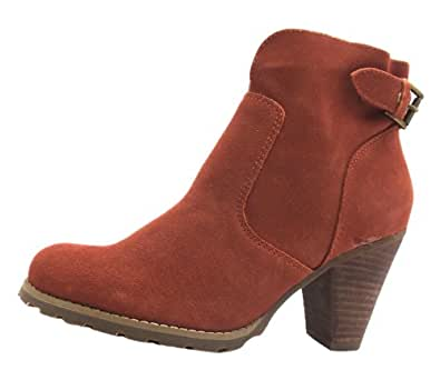 Size 9 Women's Revive Ank Boot_bu Hush Puppies Tan Zip Up High Heel Ankle Boots
