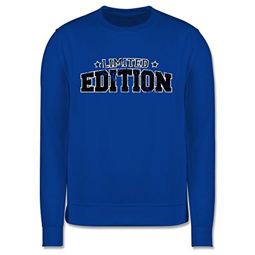 Statement Shirts - Limited Edition Vintage - Herren Premium Pullover Royalblau