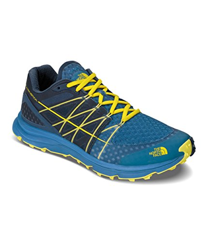 The North Face Ultra Vertical Running Trail Shoes Men Seaport Blue/Acid Yellow Schuhgröße 9,5 2017 Laufschuhe (Shoes North Running Face)