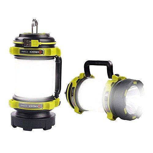 LED Camping Laterne Camping Lampe USB wiederaufladbar, Suchscheinwerfer, wasserdicht und Helligkeit, einstellbar für Camping, Wandern, Angeln