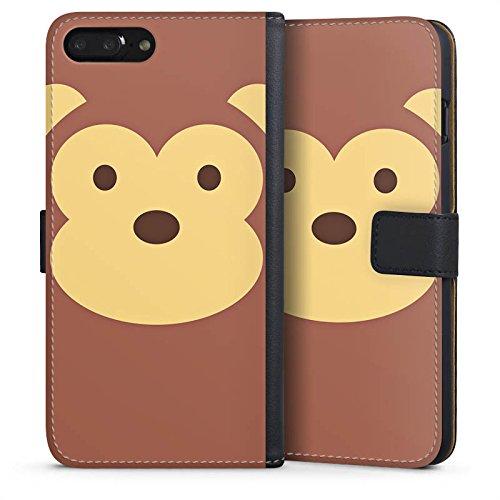 Apple iPhone X Silikon Hülle Case Schutzhülle Affe Monkey Comic Style Sideflip Tasche schwarz