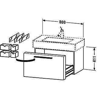 Duravit Unidad de lavabo Duravit Fogo 462/380x800x411mm fresno árbol de aceite
