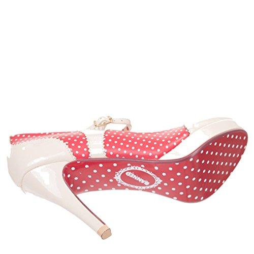 Dancing Days MARY JANE Polka Dots Riemchen Vintage Pumps High Heels Rockabilly -