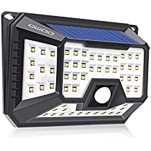 2XLED Wandleuchte Solarleuchte mit Bewegungsmelder Lampe 30 leds 3Modi IP65