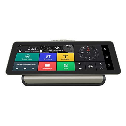 Dash Cam 1080P Dual Linse 25,4 cm IPS-Touchscreen, Android 5.1 4G GPS Navi DV Kamera Dashcam Front- und Rückfahrkamera Wasserdicht Rückfahrkamera Auto DVR Kamera Video Recorder mit Nachtsicht Dashcam