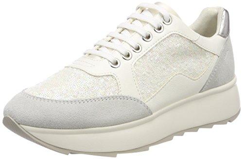 Geox Damen D Gendry B Sneaker Elfenbein (Off White)