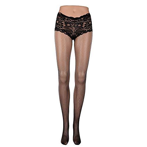 Home + L+stockings Frauen-Reizvolle Spitze-Fischnetz-Form-Strumpfhosen-Schwarz-Rot-Farben-Strumpfhosen-Hohe Strümpfe @ A