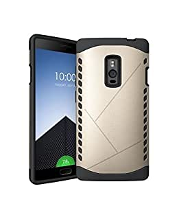 New SPL TPU+PC Hybird Armor Protective Back Case for OnePlus 2 -Golden