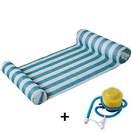 SHUIZAI Hammock Faltbarer Schwimmwasserhammer Float -Lounge Schwimmende Spielzeuge aufblasbare schwimmende Liegestuhl Schwimmbecken + senden Inflator Farb - 6