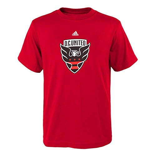 adidas Youth D.C. United Team Primary Logo T-Shirt - Red (Youth X-Large 18) -