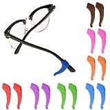Sharplace Silikon Anti-Rutsch Halter für Brillen Brillenbügel Halter beim Sport (1 Paar) - Blau