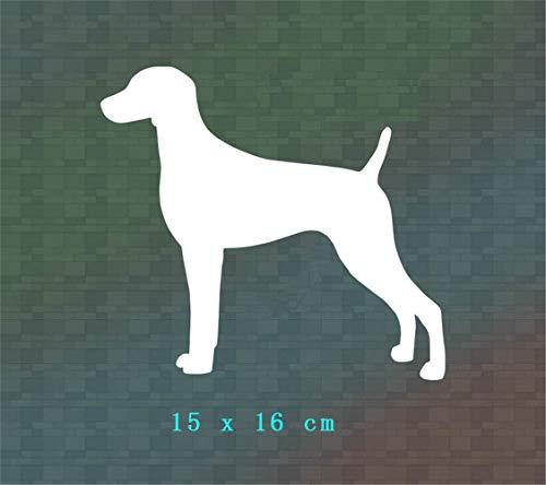 Wandtattoo Wohnzimmer Wandtattoo Schlafzimmer Weimaraner Hund Silhouette Aufkleber Auto/Fenster/Gestanzt Kein Hintergrundaufkleber für Jungen Schlafzimmer Wohnzimmer -