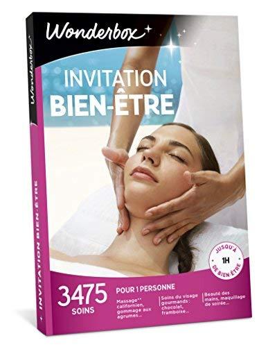 Wonderbox - Coffret cadeau femme - INVITATION AU BIEN ETRE - 3475 soins du visage, gommage aux agrumes, beautés des mains, accès au spa pour 1 personne