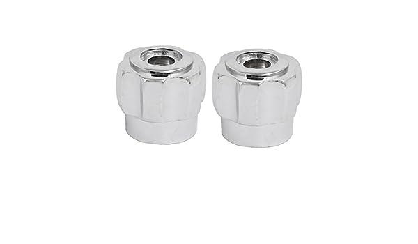 sourcingmap/® 2pcs 70mmx28mmx30mm Zinc Alloy Faucet Water Tap Handle Grip Silver Tone