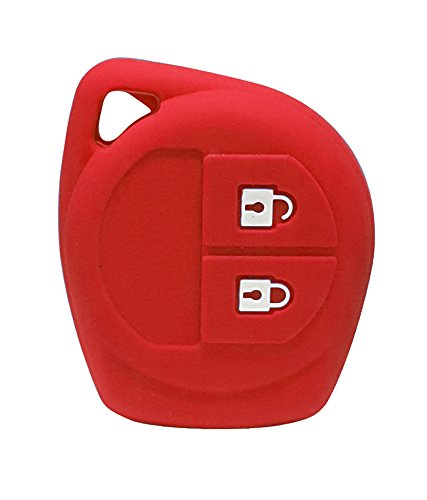 1-key silicone key cover black for suzuki 2 button remote key (red) 1-Key Silicone Key Cover Black For Suzuki 2 Button Remote Key (Red) 41prxbZqF 2BL