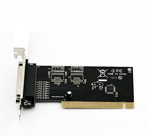 Goliton Interfaz de Tarjeta de expansión PCI Tarjeta de Puerto Paralelo Impresora LPT 25Agujero cuadrícula pequeño chasis con Mitad Altura