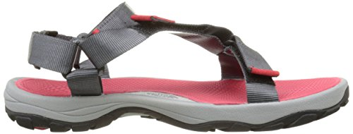 The North Face Litewave, Sandales Plateforme homme Multicolore (Zinc Grey/Tnf Red  05X)