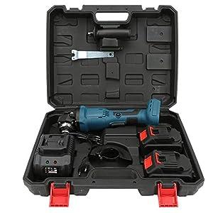 """41pryw87VRL. SS300  - Amoladora angular inalámbrica, 20V 860W 1100rpm Amoladora angular compacta de 4""""sin escobillas Juego de herramientas de pulido inalámbrico con llave para cortar madera Rectificado d(#2)"""
