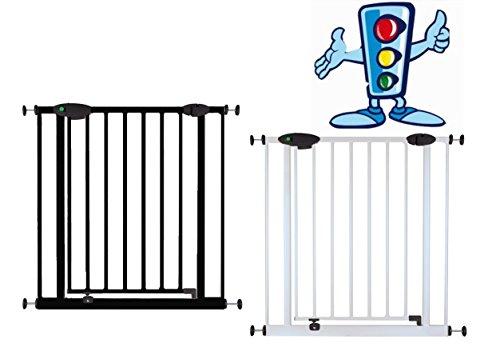 IMPAG® Traffic Light | Türschutzgitter | Treppenschutzgitter mit Ampelfunktion | 73 - 222 cm | in 2 Farben | zum Klemmen | ohne Bohren | Baby | Kinder | sicherheitsgeprüft | GRATIS VERSAND