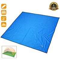 Overmont estera toldo alfombrilla manta impermeable plegable con bolsa para tienda de campaña camping picnic playa