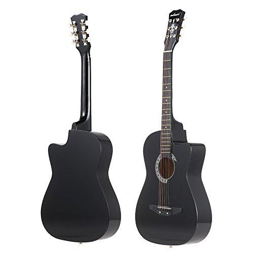 ammoon Akustische Gitarre für Anfänger 96,5cm saitigen schwarz