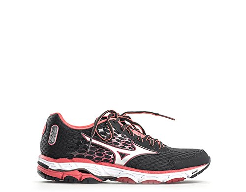 Mizuno Zapatillas de Running Wave Inspire 11 Narrow Wos Negro/Plateado / Rojo EU 40.5 (US 9.5)