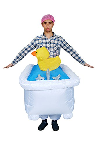 Snuter Traje de Bano Inflable de banera de Disfraces de banera de Halloween Divertido Traje de Pato Encantador para Adultos 1.5-2M