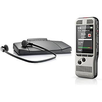 Philips DPM6700 Pocket Memo Kit de dictaphone et de transcription numérique Argent/Noir
