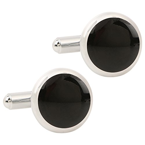 Tripin Round Black And Silver Cufflinks For Men In Red Colour Tripin...