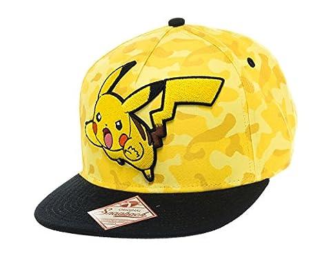 Casquette 'Pokémon' : Pikachu - snap back - jaune