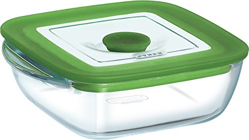 Pyrex 14 x 12 x 4 cm/0.3 Litre 4-in-1 Plus Square Dish with Lid