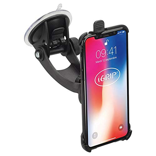 iGrip KFZ Halterung für Apple iPhone Xs / X [Autohalterungen Made in Germany I 360° drehbar I Vibrationsfrei I Für Scheibe & Armaturenbrett] - T5-94988