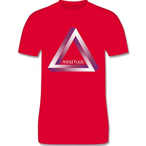 Nerds & Geeks - Tribar - Mind fuck - Herren Premium T-Shirt Rot