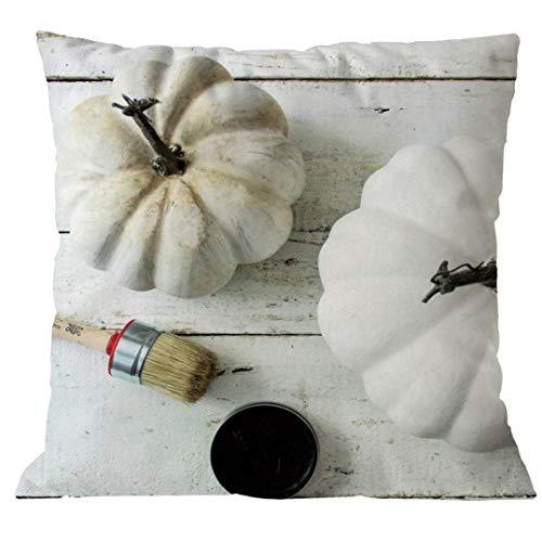Moginp Kissenbezug,Halloween Kissenhülle Drucken Kürbis Brief Pillowcase Party Wohnzimmer Schlafzimmer Dekor Sofa Taille Wurf (C)