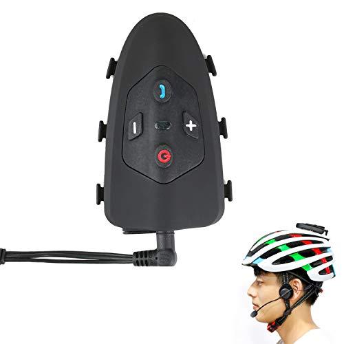 Casco Da Bicicletta Bluetooth Walkie-Talkie Headset Risposta Automatica Chiamate 1200 Metri Distanza Interfono È Molto Adatto Per La Guida (Nero),1Pack