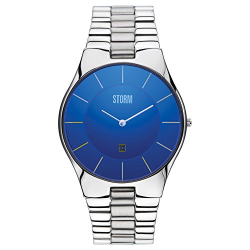 STORM London Slim-XXL Herrenuhr silber/blau 47159/B