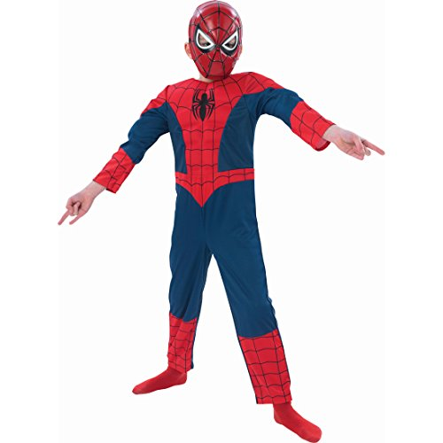 Superhelden Spinnenkostüm Spider Superheldenkostüm Marvel Avengers M 5-6 Jahre 116-128 cm Comic Helden Spidermankostüm Kinder Spiderman Kostüm Karnevalskostüme Jungen Spinnen Faschingskostüm Superheld Spinne Heldenkostüm Lizenz