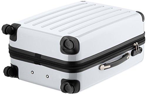 HAUPTSTADTKOFFER - Alex - Hartschalen-Koffer Koffer Trolley Rollkoffer Reisekoffer Erweiterbar, 4 Rollen, 65 cm, 74 Liter, Weiß - 5