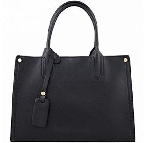 Borsa a mano in vera pelle made in Italy nero