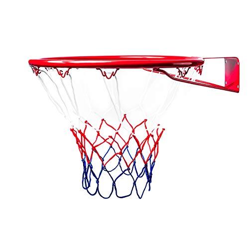 BESTIF Panier de Basket pour Enfants en intérieur et en extérieur - Panier de Basket pour Chambre - Anneau avec Filet et vis de Fixation - Grand & Mini - Diamètre 37 cm / 45 cm, 45 cm
