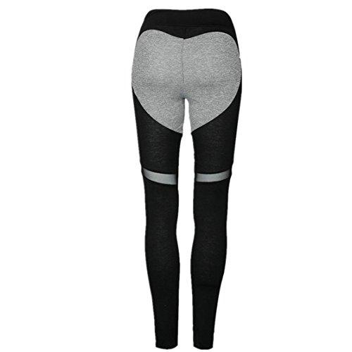 Familiz Femmes Maigre Leggings Un Pantalon, Taille haute Des Sports Un Pantalonde Sport Femme Yoga Fitness Gym Noir