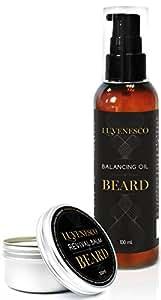 Luvenesco Huile à barbe et Baume pour barbe pour homme   Revitalisant intensif – Adoucissant   Pour les barbes épaisses et fournies   Supplément toilette pilosité du visage